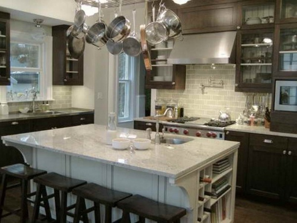 30 Bianco Romano granite countertops - modern kitchen designs on Backsplash Ideas For White Cabinets And Granite Countertops  id=85769