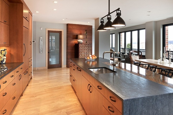 Leathered granite countertops - a sophisticated look of ... on Black Granite Stain  id=30139