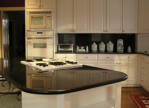 Soapstone vs granite - what is important to know? on Black Granite Countertops With Backsplash  id=21613