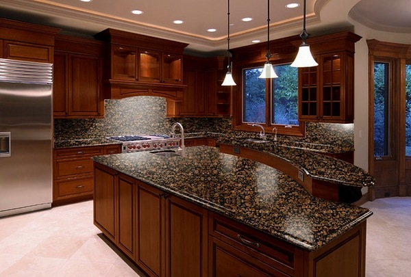 Baltic brown granite countertops - texture and charm to ... on Backsplash For Black Granite Countertops And Brown Cabinets  id=95285