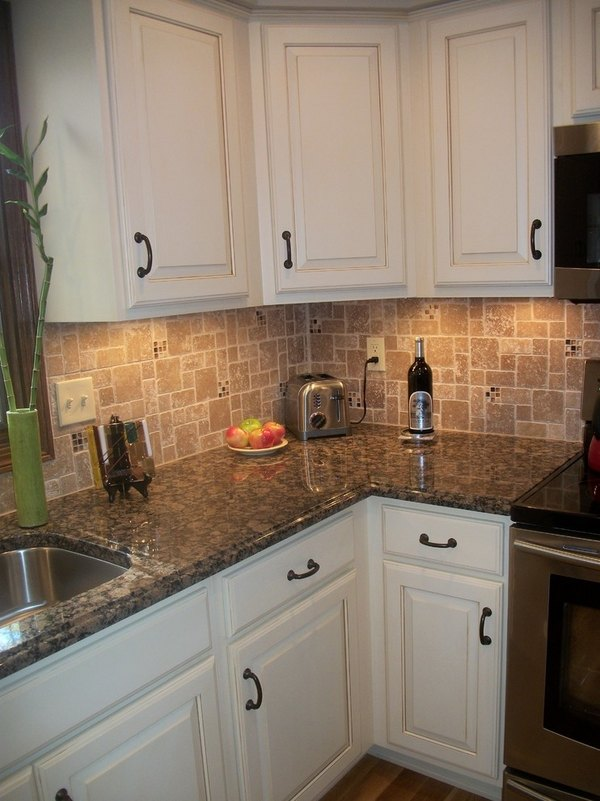 Baltic brown granite countertops - texture and charm to ... on Backsplash For Black Granite Countertops And White Cabinets  id=33663
