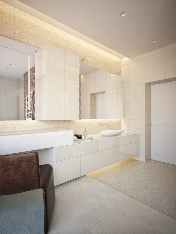 led light fixtures - tips and ideas for modern bathroom lighting Modern Bathroom Lighting Ideas