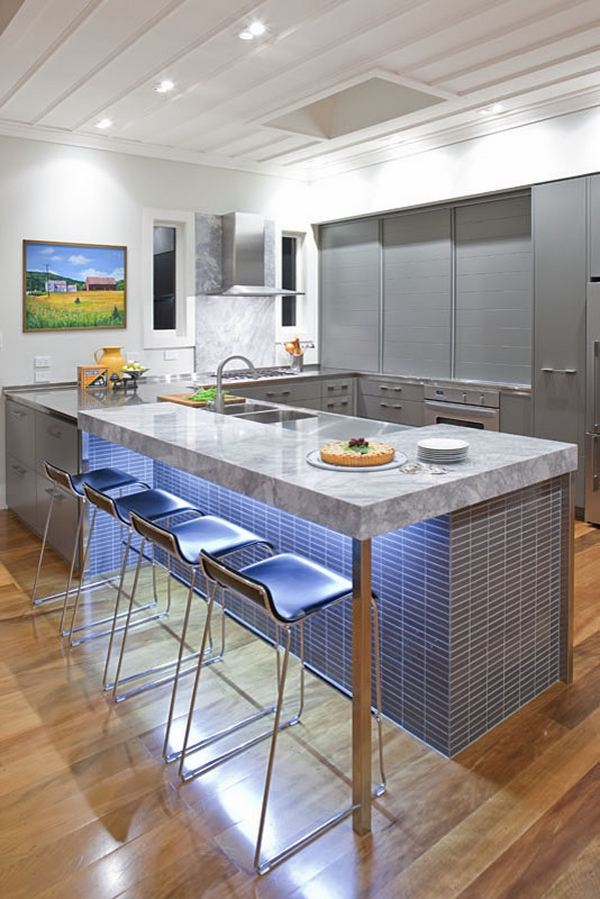 Kitchen bar top ideas - how to choose the right bar counter? on Kitchen Counter Decor Modern  id=48275