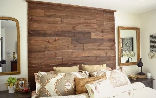 Creative pallet headboard ideas - a charming accent in the ... on Pallet Bedroom Design  id=43468