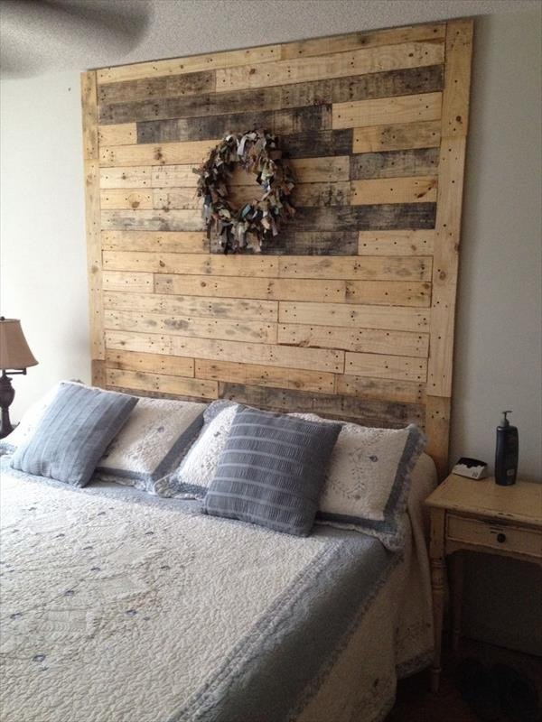 Creative pallet headboard ideas - a charming accent in the ... on Small Room Pallet Bedroom Ideas  id=57916