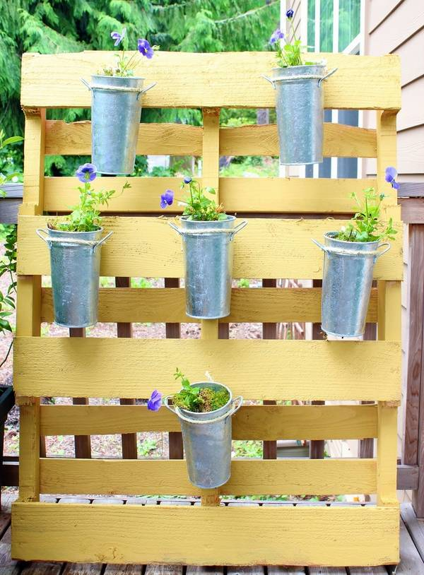 Space saving and practical ideas for a lovely pallet herb ... on Pallets Design Ideas  id=61597
