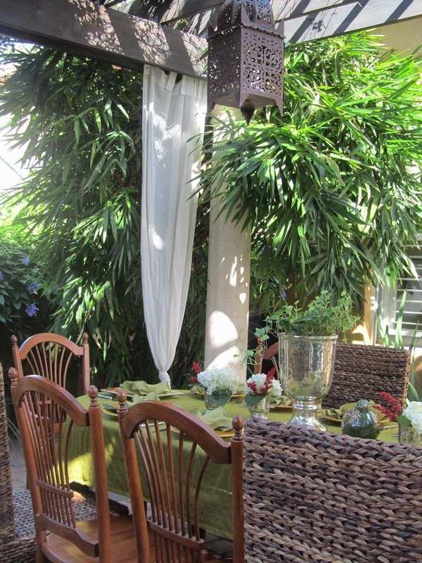 Fascinating garden decoration with Moroccan lanterns on Moroccan Backyard Design  id=89128