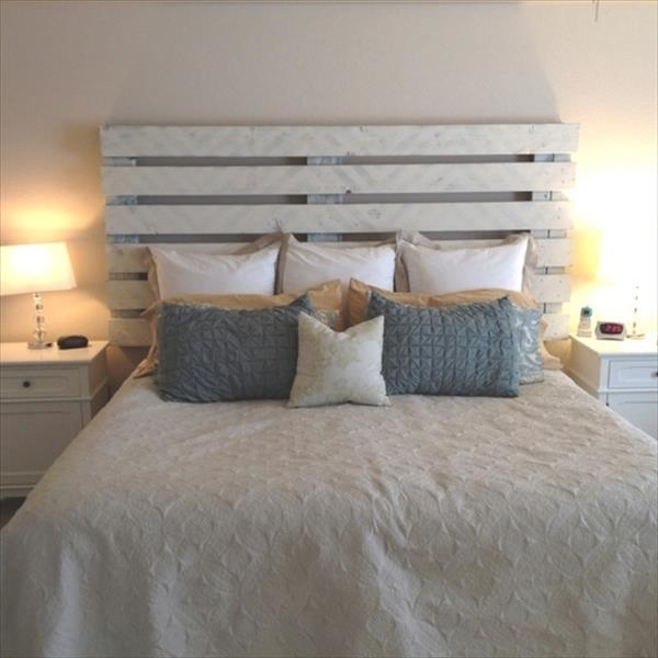 Creative pallet headboard ideas - a charming accent in the ... on Pallet Bedroom  id=93215