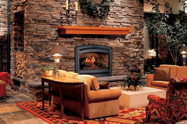 50 Stone Fireplace Design Ideas The Irresistible Power Of Open Fire