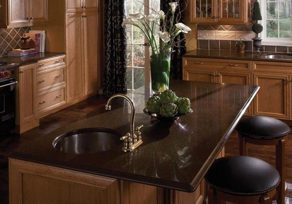 Coffee brown granite countertops - a variety of hues to ... on Black Granite Countertops With Brown Cabinets  id=78111