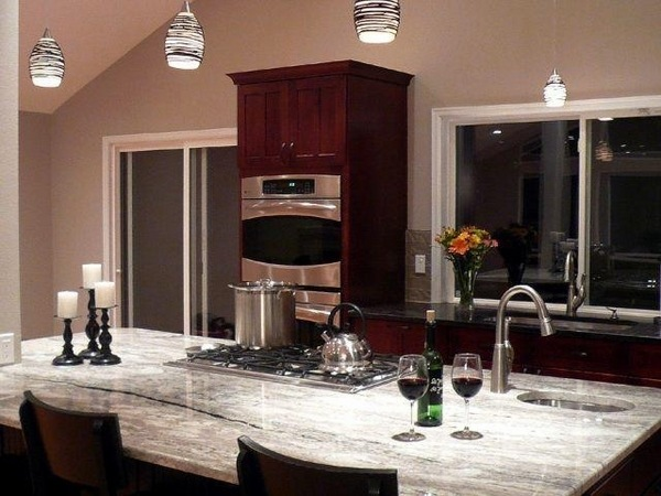 25 Super White granite countertop ideas - the alternative ... on Dark Granite Countertops With Dark Cabinets  id=35576