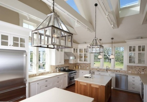 Vaulted ceiling lighting ideas     creative lighting solutions skylights large chandeliers contemporary kitchen Vaulted ceiling lighting  ideas     creative