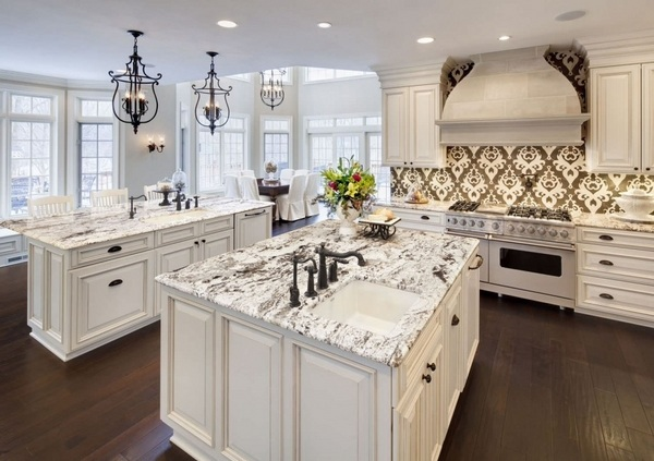 What are the best granite colors for white cabinets in ... on What Color Cabinets Go Best With Black Granite Countertops  id=41925