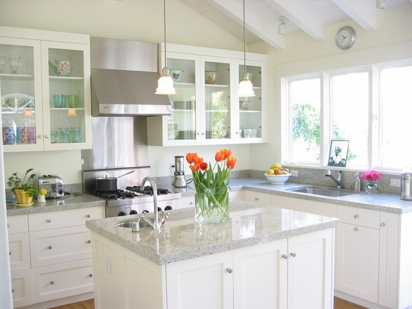 What are the best granite colors for white cabinets in ... on What Color Cabinets Go Best With Black Granite Countertops  id=13161