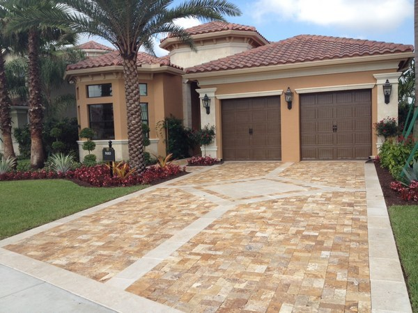 Travertine pavers for patio and driveways - the ideal ... on Travertine Patio Ideas id=29438