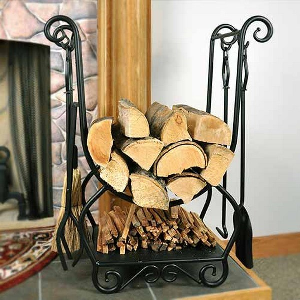 How to choose the perfect indoor firewood holder - tips ... on Iron Stand Ideas  id=84628