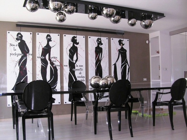 50 Dining room d    cor ideas     how to use black color in a stylish way modern decor ideas black dining chairs wall art 50 Dining room d    cor ideas      how to use black color in a stylish way