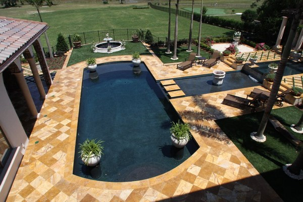 Travertine pavers for patio and driveways - the ideal ... on Travertine Patio Ideas id=63088