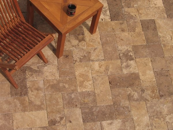 Travertine pavers for patio and driveways - the ideal ... on Travertine Patio Ideas id=71823