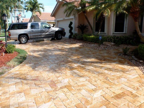 Travertine pavers for patio and driveways - the ideal ... on Travertine Patio Ideas id=25514