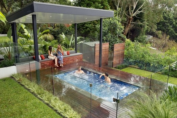 Small inground pools - inspiring ideas for small gardens ... on Pool Deck Patio Ideas id=95129