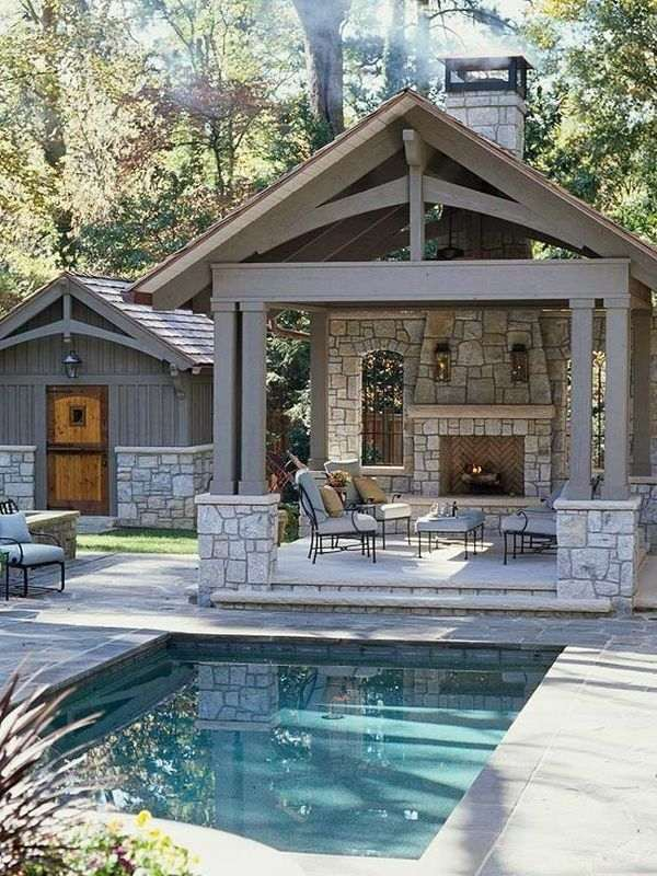 Small inground pools - inspiring ideas for small gardens ... on Outdoor Kitchen By Pool id=14148