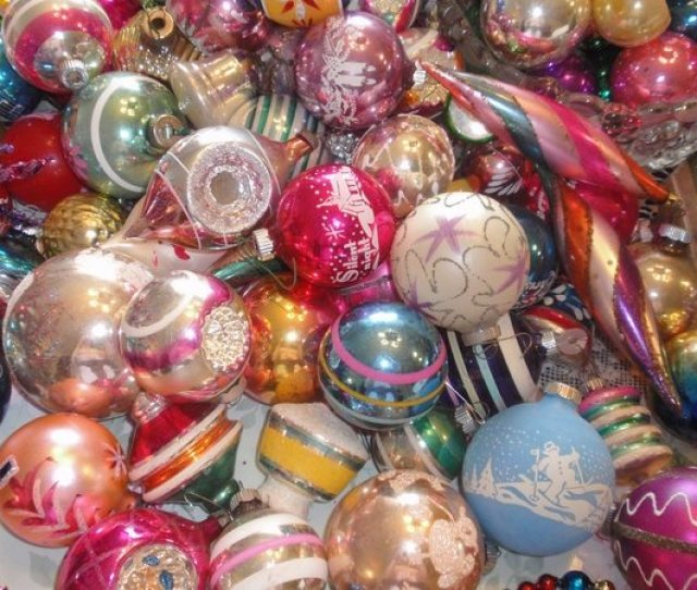 Beautiful Christmas Tree Ornaments Glass Ornaments Midcentury Modern Unique