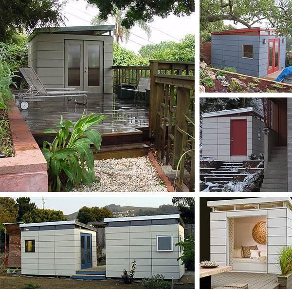 Modern shed ideas - elegant home office or a cozy garden ... on Backyard Retreat Ideas id=36052