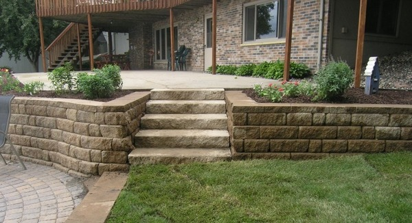 35 retaining wall blocks design ideas - how to choose the ... on Patio Stone Wall Ideas id=78236