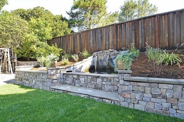 35 retaining wall blocks design ideas - how to choose the ... on Patio Stone Wall Ideas id=47086