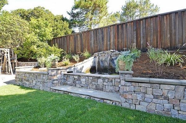 35 retaining wall blocks design ideas - how to choose the ... on Patio Stone Wall Ideas  id=47086