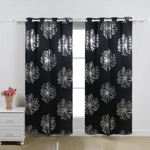 Paradise Leaf Thermal Grommet Curtain Panels