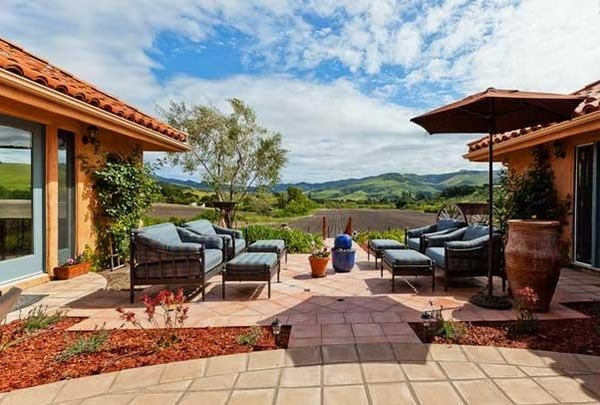 Beautiful Saltillo tile floor - Mediterranean patio decor ... on Mexican Backyard Decor  id=51516