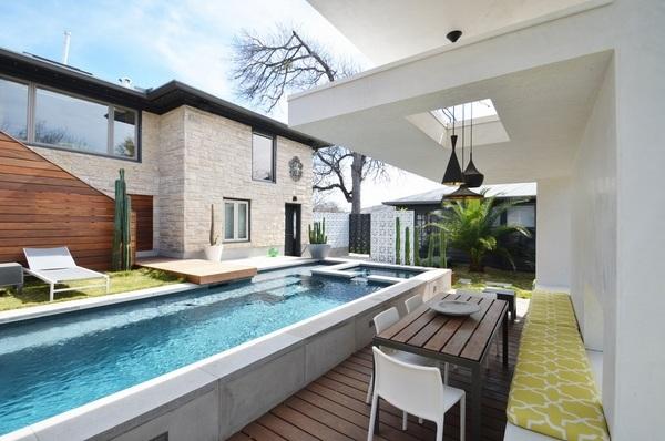 Above ground pool decks - 40 modern garden swimming pool ... on Modern Backyard Ideas With Pool id=73547