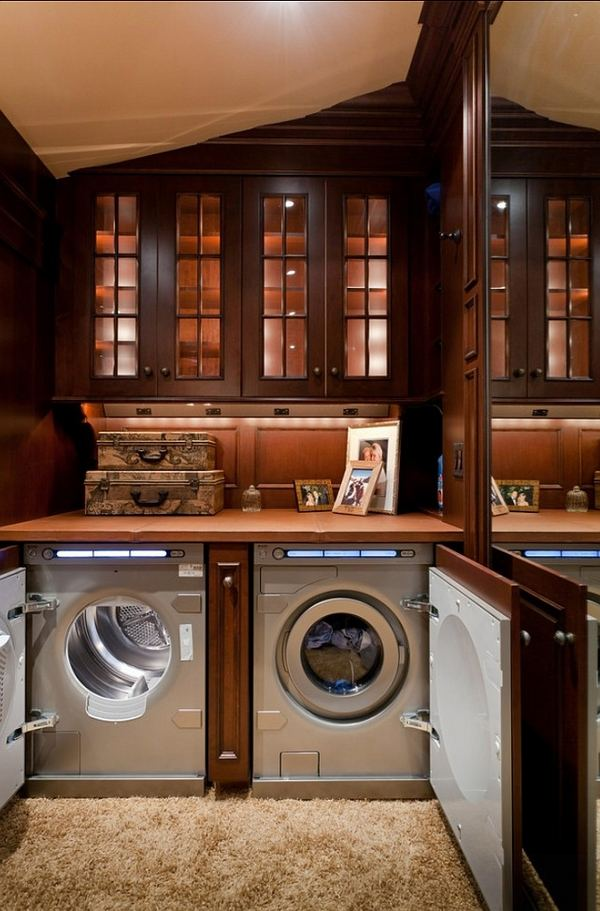 Modern laundry room cabinets and practical storage ... on Laundry Cabinets  id=59005
