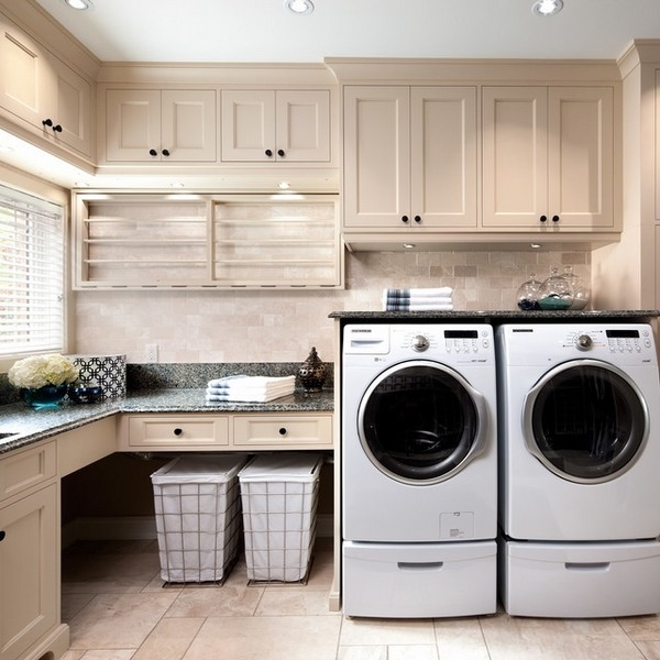 Modern laundry room cabinets and practical storage ... on Laundry Cabinets  id=95351