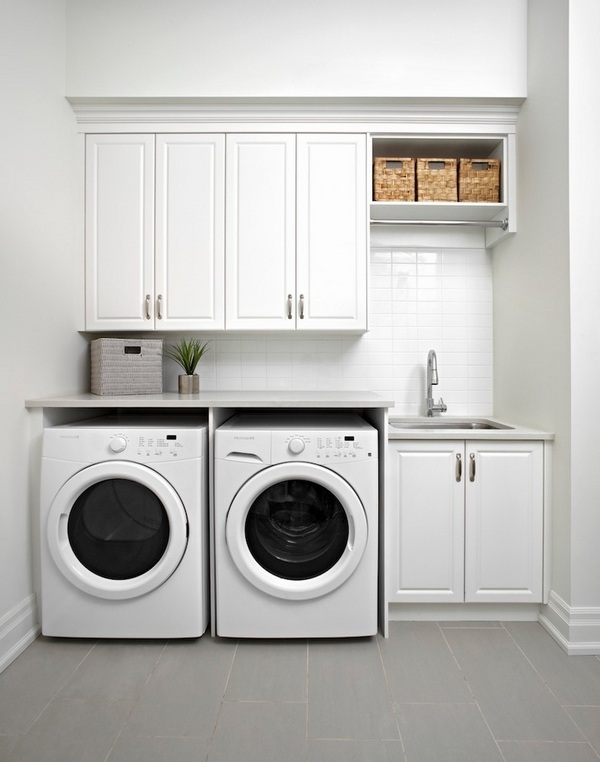 Modern laundry room cabinets and practical storage ... on Laundry Cabinets  id=32408