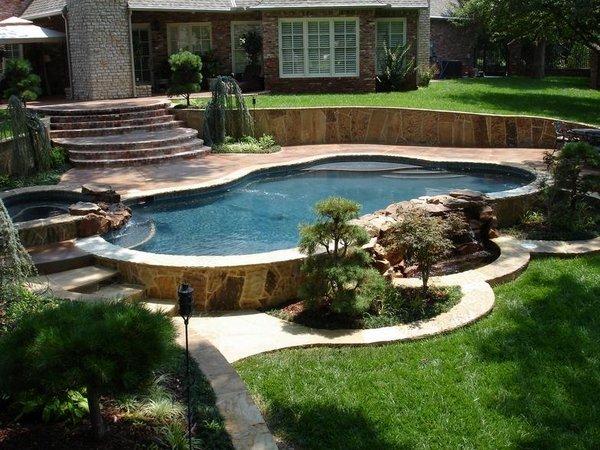 Cool Above Ground Pools With Decks Modern Backyard