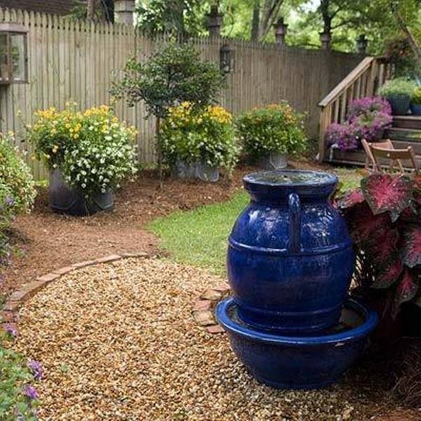 Patio landscape design - cost effective pea gravel patio ... on Backyard With Gravel Ideas id=91823