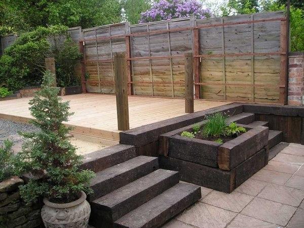railway sleepers garden ideas Wooden garden sleepers – Yes or no to railway sleepers in