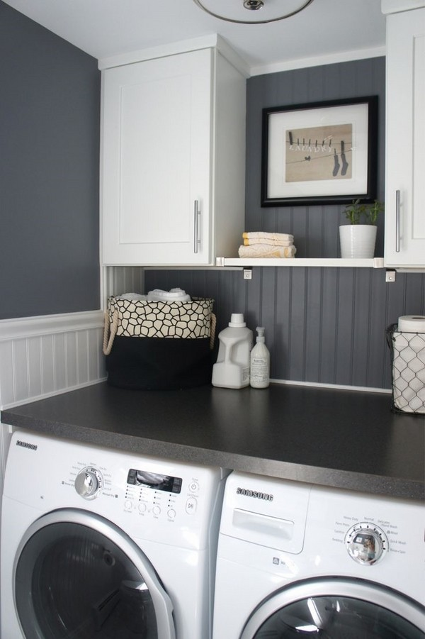 40 small laundry room design ideas - comfortable and ... on Small Laundry Room Cabinets  id=73737
