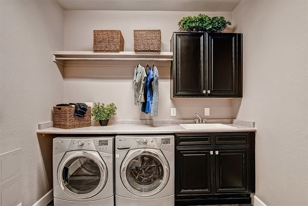 40 small laundry room design ideas - comfortable and ... on Laundry Room Cabinet Ideas  id=52527