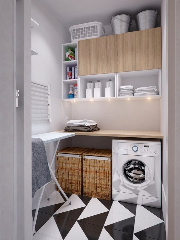 40 small laundry room design ideas - comfortable and ... on Laundry Room Shelves Ideas  id=62764