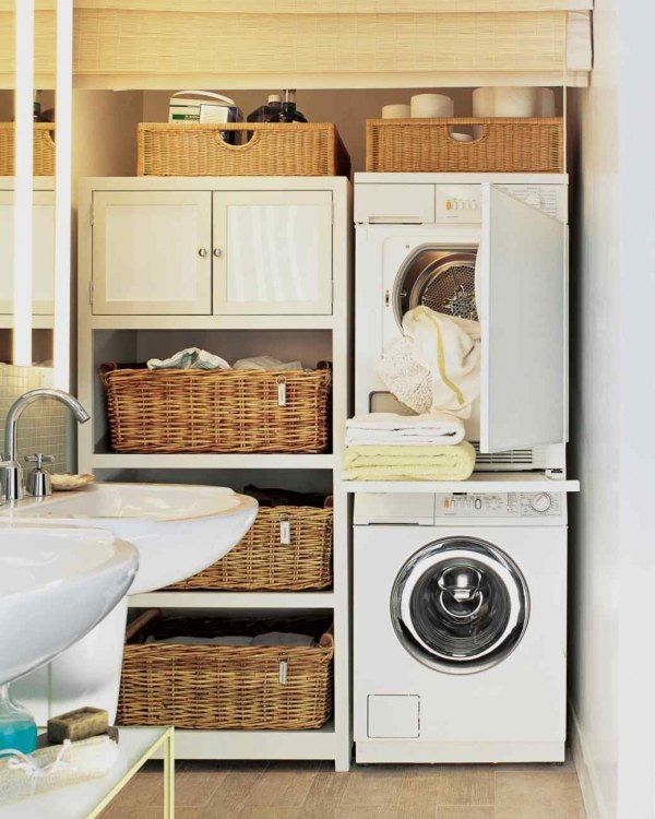 40 small laundry room design ideas - comfortable and ... on Small Laundry Room Cabinets  id=97333