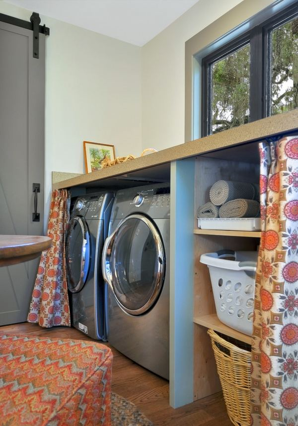 40 small laundry room design ideas - comfortable and ... on Laundry Room Shelves Ideas  id=59910