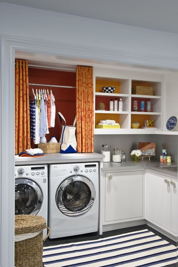 40 small laundry room design ideas - comfortable and ... on Laundry Cabinets Ideas  id=16864