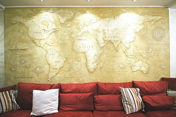 Top 10 wall coverings - exclusive wall decorating ideas on Creative Living Room Wall Decor Ideas  id=86730
