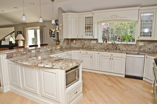 Typhoon Bordeaux granite countertops - best kitchen ... on Backsplash Ideas For White Cabinets And Granite Countertops  id=87198