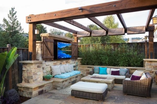Outdoor TV enclosure ideas - take the entertainment outdoors on Outdoor Patio Enclosure Ideas  id=21289