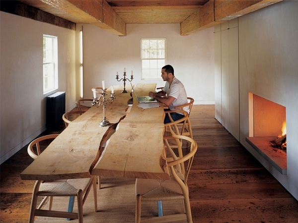wood slab dining table designs in
